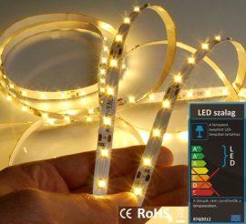LED szalag beltéri (3528-060-FN) - fehér (meleg) Dekor, 4,8W / méter