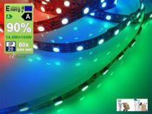 LED szalag beltéri (5050-060) - RGB színes, Dekor, 14,4W / méter
