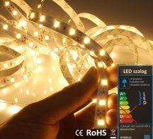 LED szalag beltéri (5630-060-FN) - fehér (meleg) Dekor, 14,4W / méter