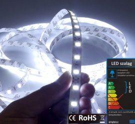 LED szalag beltéri (2835-060) - fehér (hideg), 14,4W / méter
