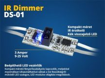 Beépíthető LED vezérlő (DS01) IR kapcsoló, fényerő szabályzó