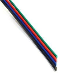 Vezeték színes, RGB LED szalaghoz, 4 eres (feh./kék/piros/zöld)