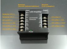 Jelerősítő (RGB vezérlőhöz és dimmerhez) 216 Watt