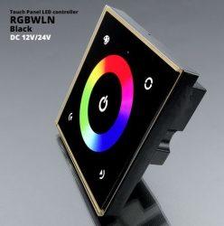 Fali RGBW LED vezérlő (RGBWLN) - 192 Watt - fekete