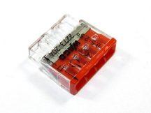 Wago Compact vezeték összekötő, 4 vezeték nyílásos, kapcsos vagy merev vezetékhez