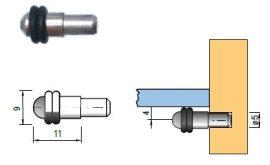 Polctartó (henger) üvegre, 5 mm