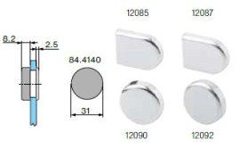 Ellendarab üvegajtó pánthoz / takarósapka több változatban 84.4120