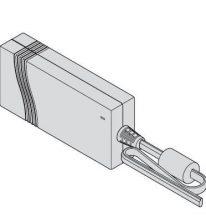 Trafó 24 V / 24 W servo drive-hoz, kábel hossz 2 m, IP40