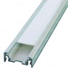 Alu profil Surface, led szalaghoz 2 m, több színben, ragasztás / csavarozás