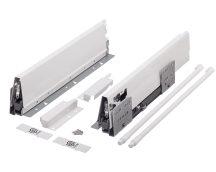 Strongbox, frontkihúzású fiók szett, H:204 mm, több méretben, szürke vagy fehér színben