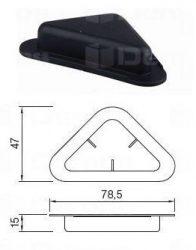 Csúszótalp rálöhető sarokra H: 15 mm