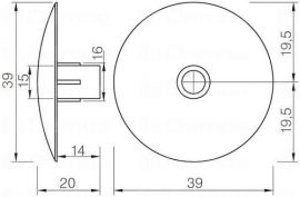 Csúszótalp rápattintható 464 / 5 mm fekete