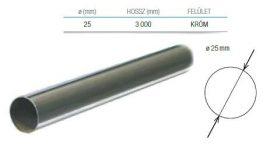 Strong ruharúd, kör keresztmetszetű, Ø 25 mm, szálban 3000 mm, króm