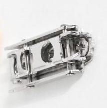 Alap talp, egyenes, acél, H: 8,5 mm, csavaros
