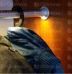 Alu profill Oval ledszalaghoz, 2 m, megvilágított ruhaakasztó