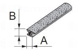 Sevroll támfalas kefe, becsúsztatható, 4,8 x 4 mm