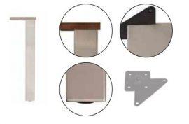 Asztalláb, acél 80x80 mm profil, 710 mm