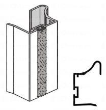 Sevroll fogantyú profil, Fiona II, ezüst, szálban 2 700 mm