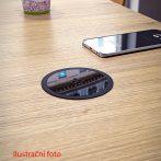 VersaCharger króm / fényesített fekete vezeték nélküli telefontöltő