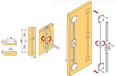 Lapmerevítés 1-fejelőléc - Asztalosszerkezetek