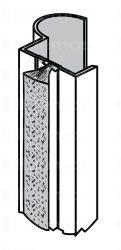 Sevroll fogantyú profil, Focus, több színben, szálban 2 700 mm
