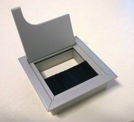 Kábelkivezető, prémium 68,5x68,5 (80x80) mm, alumínium