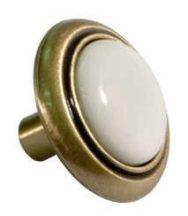Porcelán gomb Dubp001, fehér 30 mm